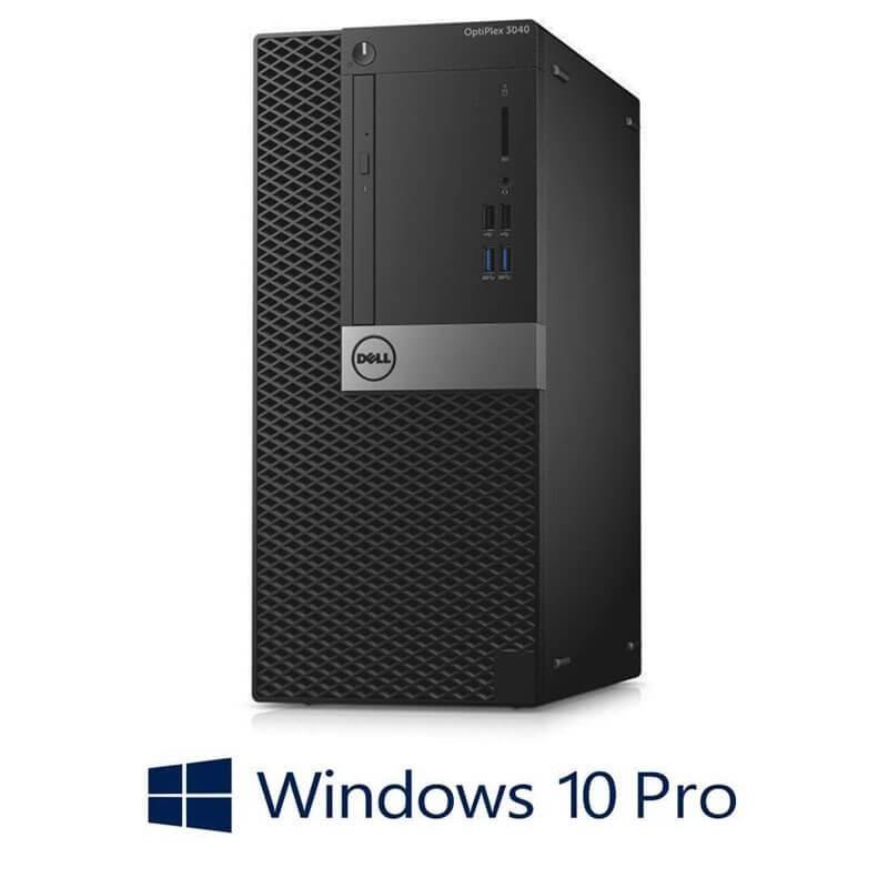 Calculatoare Dell OptiPlex 3040 MT, Quad Core i7-6700T, 240GB SSD NOU, Win 10 Pro
