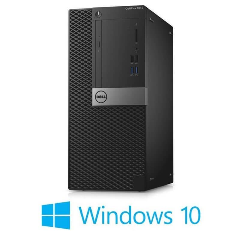 Calculator Dell OptiPlex 3040 MT, Quad Core i5-6500, 240GB SSD NOU, Win 10 Home