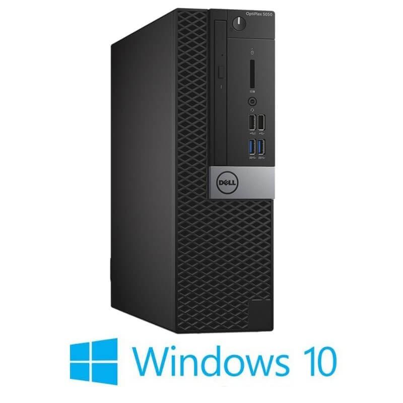 Calculator Dell OptiPlex 5050 SFF, Intel i3-7100, 120GB SSD NOU, Windows 10 Home