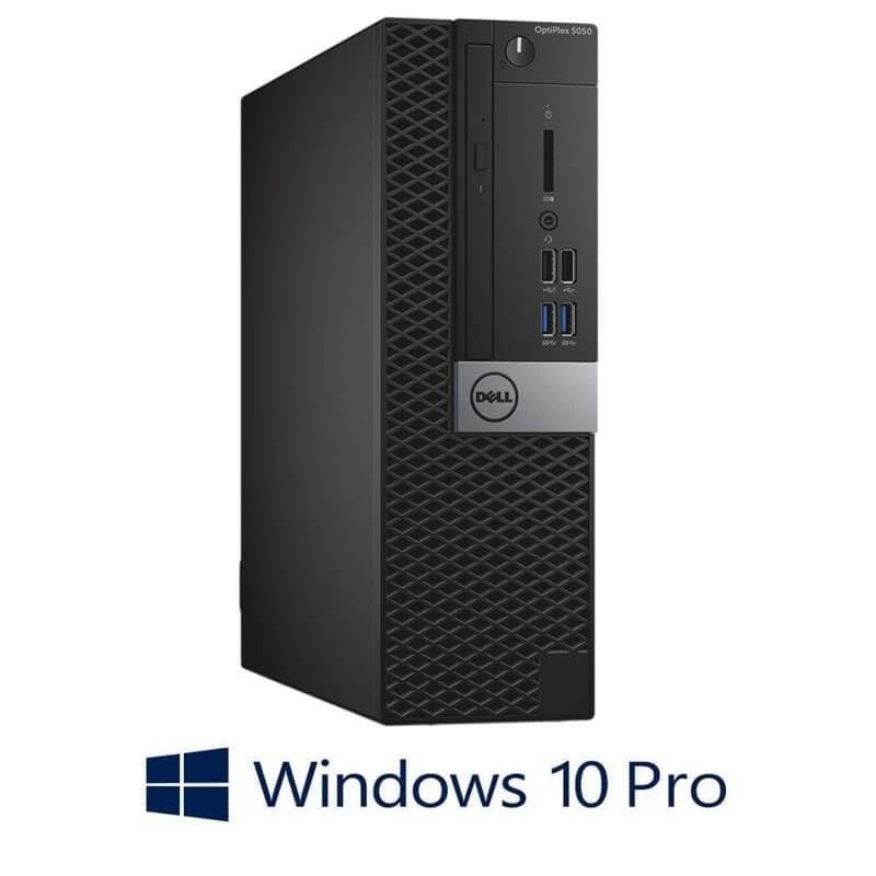 Calculator Dell OptiPlex 5050 SFF, Intel i3-7100, 120GB SSD NOU, Windows 10 Pro