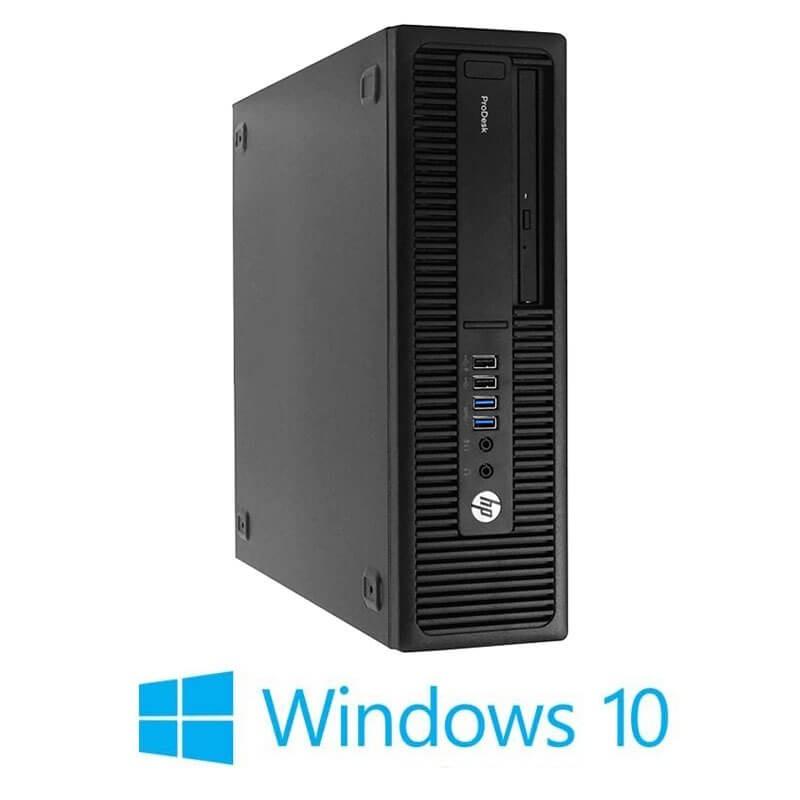 Calculator HP ProDesk 600 G2 SFF, Quad Core i5-6600, 120GB SSD NOU, Win 10 Home