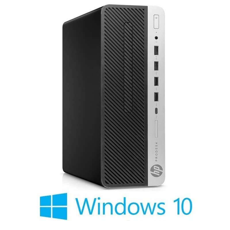 Calculator HP ProDesk 600 G4 SFF, Hexa Core i7-8700T, 256GB SSD NOU, Win 10 Home