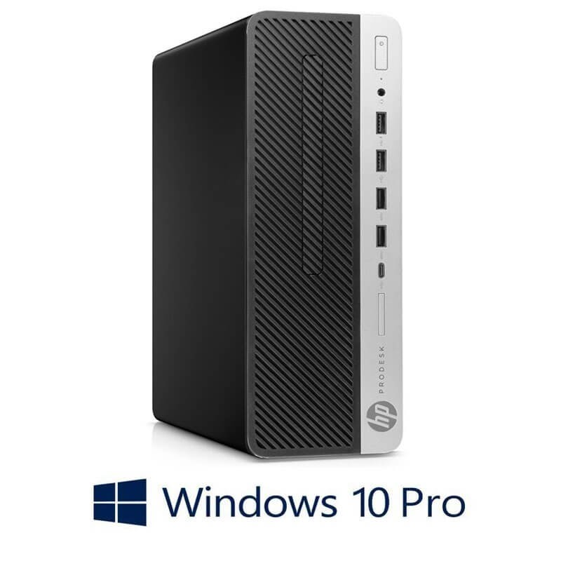 Calculator HP ProDesk 600 G4 SFF, Hexa Core i7-8700T, 256GB SSD NOU, Win 10 Pro