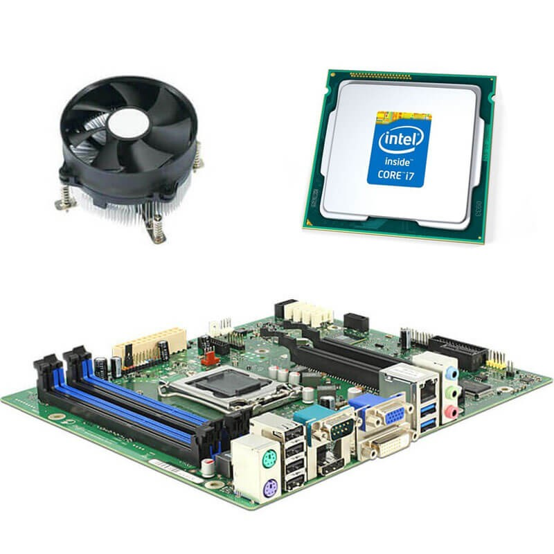 Kit Placi de baza Refurbished Fujitsu D3221-B, Intel Quad Core i7-4790K, Cooler