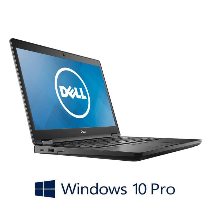 Laptop Dell Latitude 5490, Quad Core i5-8350U, SSD, Full HD, Webcam, Win 10 Pro