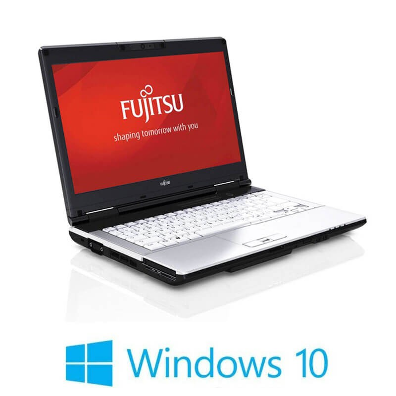 Laptop Refurbished Fujitsu LIFEBOOK S751, Intel i3-2350M, Webcam, Win 10 Home