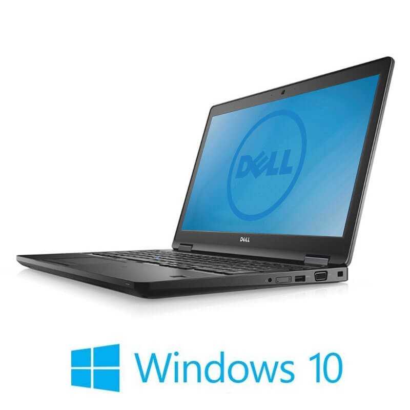Laptopuri Dell Latitude 5580, Intel i5-6300U, 256GB SSD, 15.6 inci , Webcam, Win 10 Home
