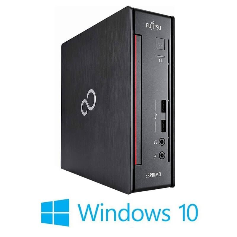 Mini Calculatoare Fujitsu ESPRIMO Q956, Quad Core i7-6700T, 8GB DDR4, SSHD, Win 10 Home