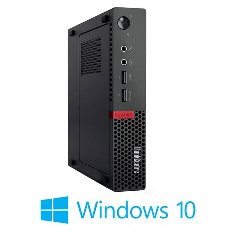 Mini Calculatoare Lenovo ThinkCentre M710q, Quad Core i5-6500T, 256GB SSD M.2, Win 10 Home