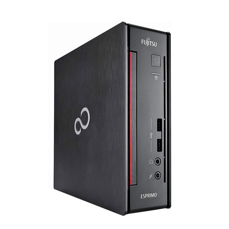 Mini Calculatoare second hand Fujitsu ESPRIMO Q956, Quad Core i7-6700T, 8GB DDR4, 500GB SSHD