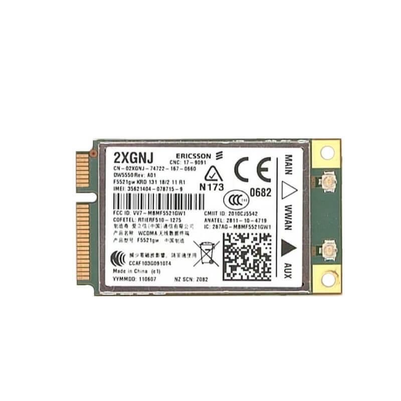 Modul WWAN 3G Ericsson 2XGNJ, Dell Wireless 5550, F5521GW