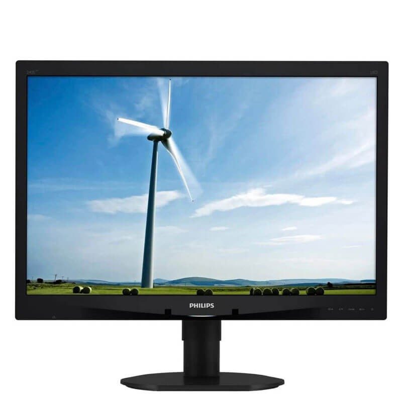 Monitor LED Refurbished Philips 240S4L, 24 inch WideScreen, Full HD