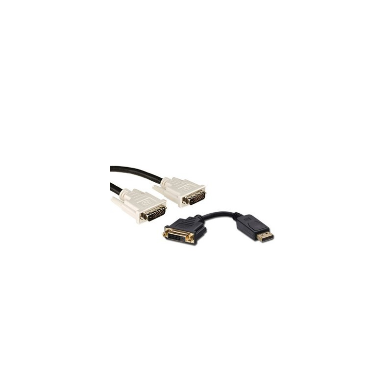 Pachet Cablu DVI-D + Adaptoare DisplayPort la DVI-D
