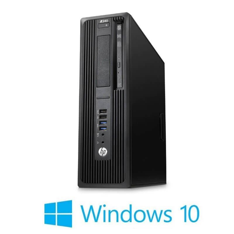 Statie grafica HP Z240 SFF, Quad Core i7-6700T, 16GB DDR4, Win 10 Home