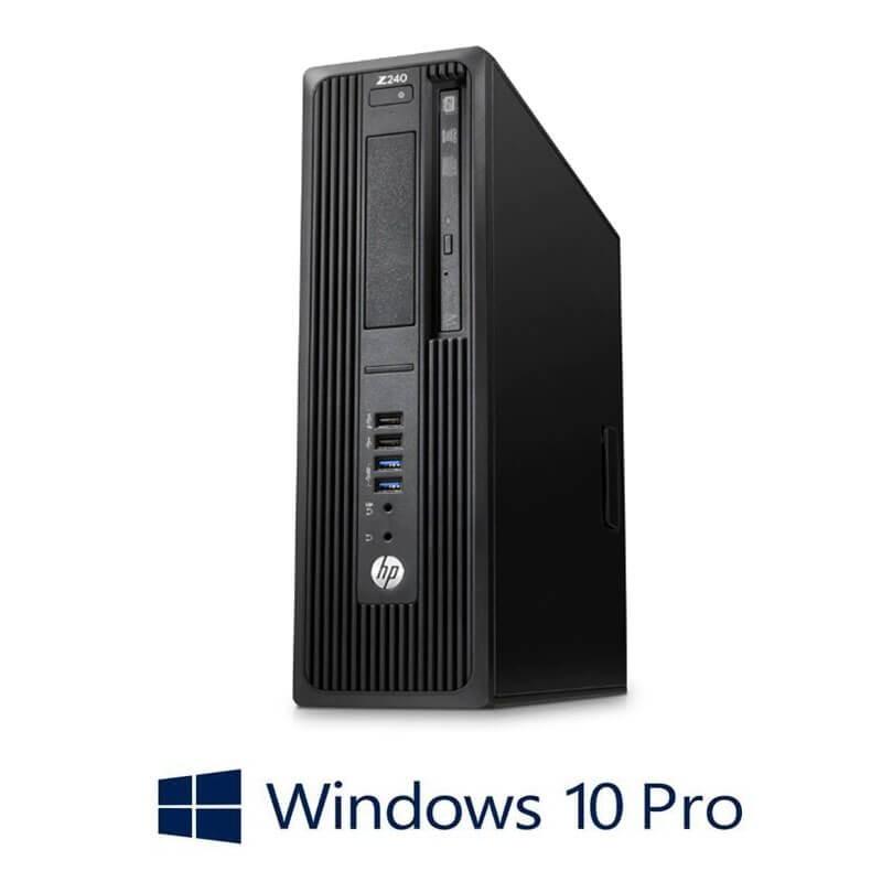 Statie grafica HP Z240 SFF, Quad Core i7-6700T, 16GB DDR4, Win 10 Pro