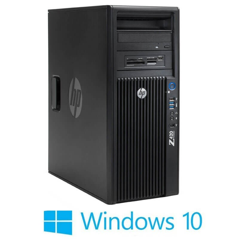 Statie grafica HP Z420, Octa Core E5-2670, 16GB, Quadro K600, Win 10 Home