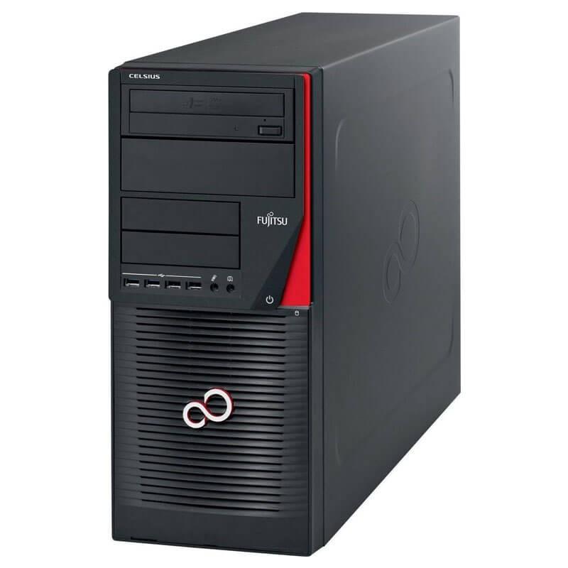 Statie grafica second hand Fujitsu CELSIUS W550n, Xeon E3-1220 v5, 512GB SSD, Quadro M2000